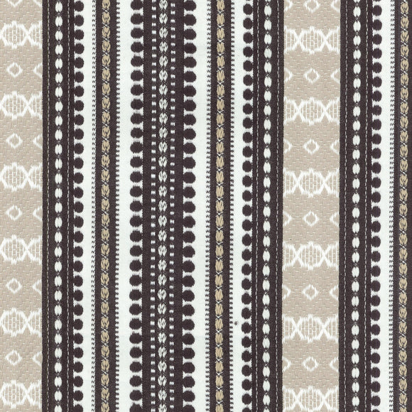 Ancient Stripe CL Onyx Drapery Upholstery Fabric by PK Lifestyles