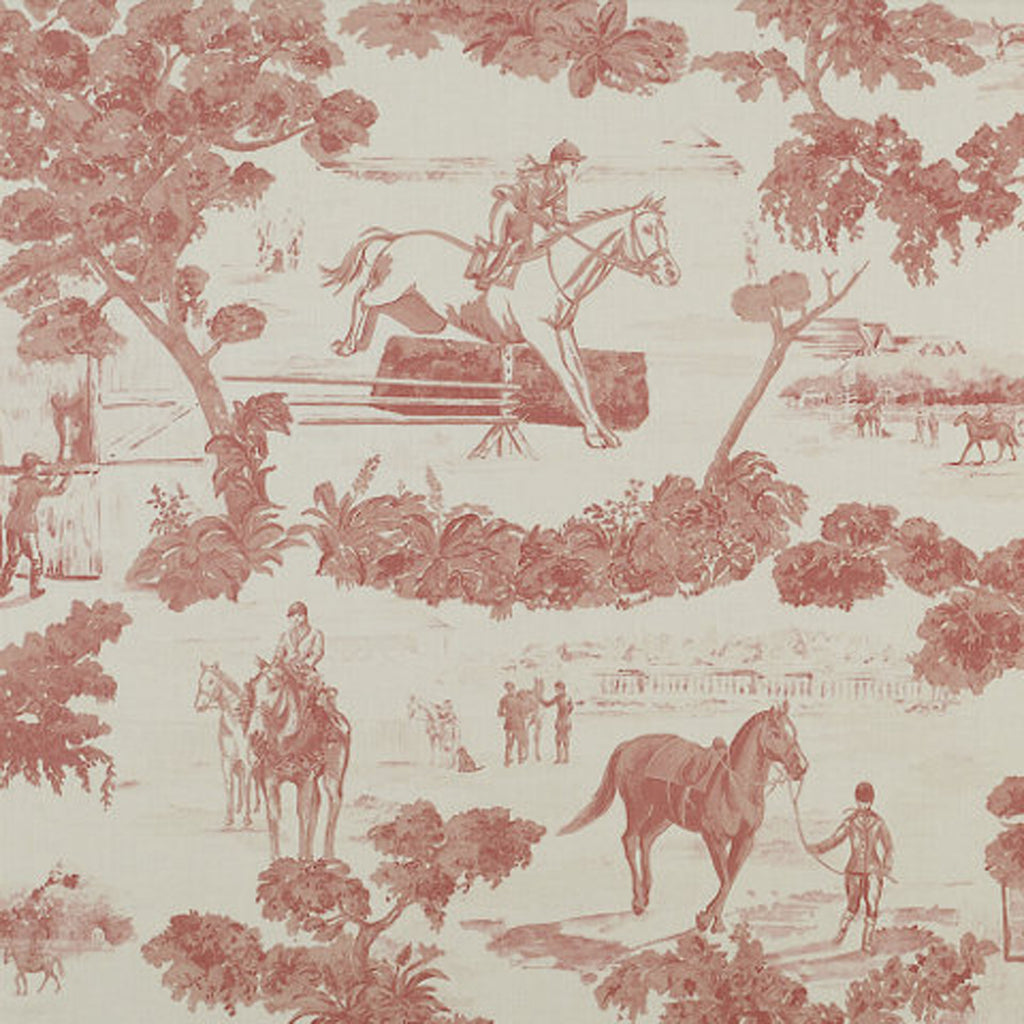 And They're Off CL Pink - Cream Drapery Upholstery Fabric by Ralph Lauren