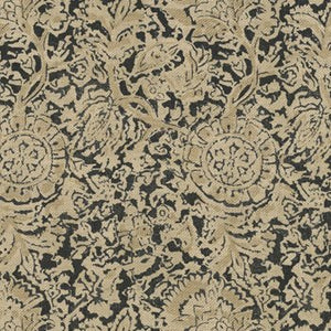Arjuna Floral CL Ebony Upholstery Fabric by Ralph Lauren