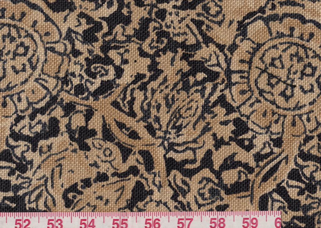 3 yards of Arjuna Floral CL Ebony Upholstery Fabric by Ralph Lauren