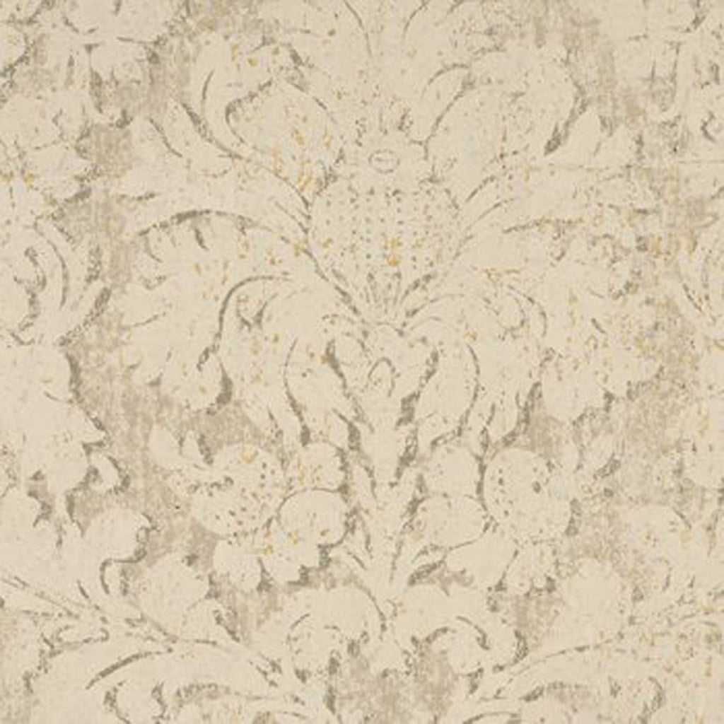 Artemesia Damask Linen CL Linen Double Roll of Wallpaper by Ralph Lauren