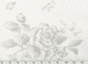 Ashfield Floral Sheer CL Dove Drapery Fabric by Ralph Lauren Fabrics