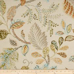 Autumn Leaves CL Oat Drapery Upholstery Fabric by P Kaufmann