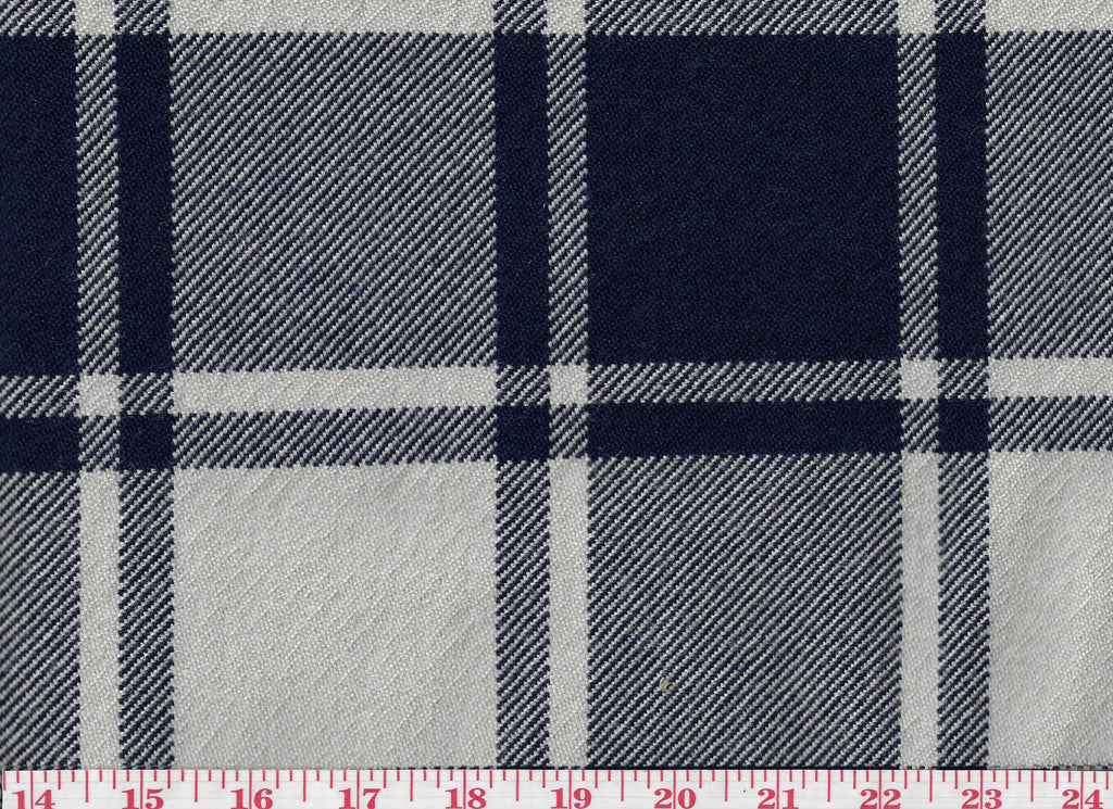 Avery Rock Plaid CL Indigo Upholstery Fabric by Ralph Lauren
