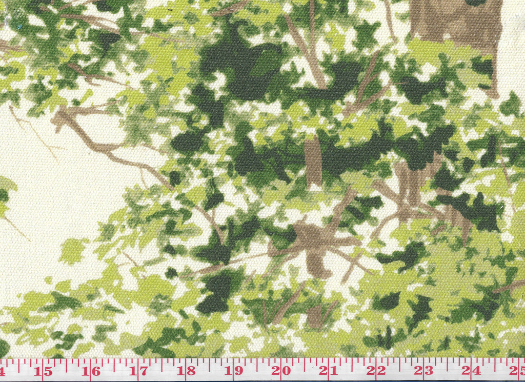 Deer in Forest Cotton Print Drapery Fabric by Braemore Ferguson CL Heritage