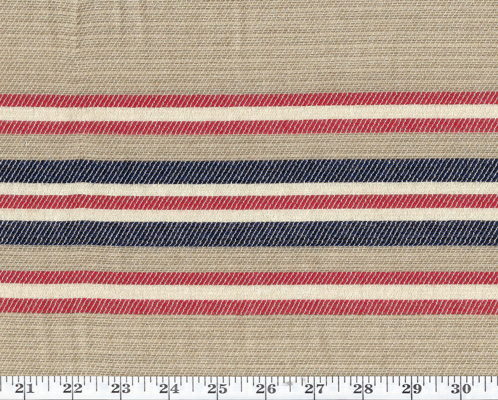 Boat Meadow Stripe CL Buoy Sunbrella Outdoor Upholstery Fabric by Ralph Lauren