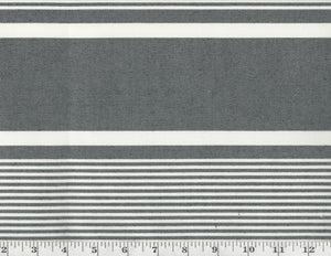 Boaters Bay Stripe CL Black Outdoor Upholstery Fabric by Ralph Lauren
