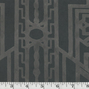 Brandt Geometric CL Charcoal Double Roll of Wallpaper by Ralph Lauren