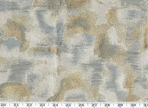 Carrara Fancy Jacquard CL Metal Upholstery Fabric by American Silk Mills