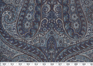 Chateau CL Sapphire Dusk Drapery Upholstery Fabric by American Silk Mills