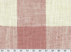 Check Please Plus CL Soft Coral Drapery Upholstery Fabric by P Kaufmann