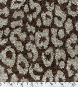 Cheetah CL Otter Upholstery Fabric by DeLeo Textiles