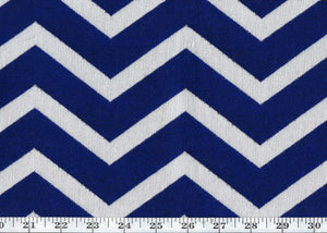 Cherbourg Chevron CL Cobalt Outdoor Upholstery Fabric by Ralph Lauren