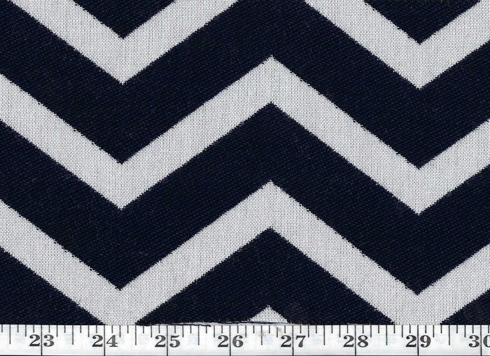 Cherbourg Chevron CL Navy Outdoor Upholstery Fabric by Ralph Lauren