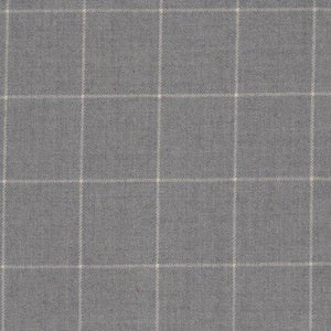 Clifton Tattersal CL Stone Grey Drapery Upholstery Fabric by Ralph Lauren