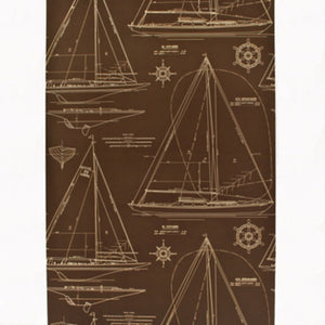 Collection Chesapeake CL Mahogany Double Roll of Wallpaper by Ralph Lauren
