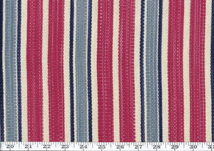 Colombier Stripe CL Antique Red Upholstery Fabric by Ralph Lauren