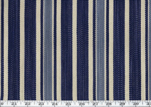 Colombier Stripe CL Ink Upholstery Fabric by Ralph Lauren