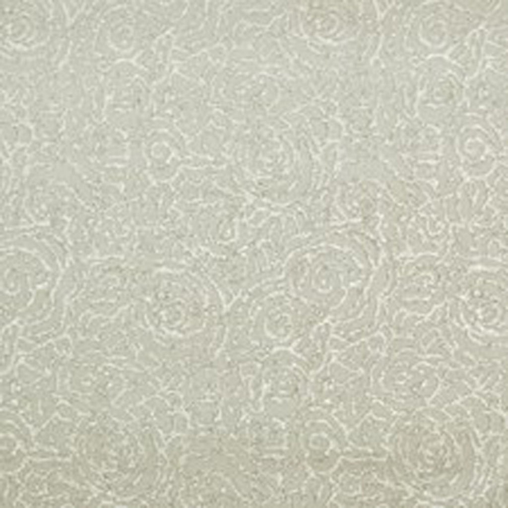 Colony Club Floral CL Pearl Grey Single Roll of Wallpaper by Ralph Lauren