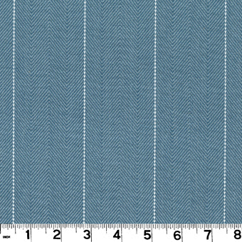 Copley Stripe CL Lake Drapery Upholstery Fabric by Roth & Tompkins