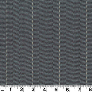 Copley Stripe CL Slate Drapery Upholstery Fabric by Roth & Tompkins