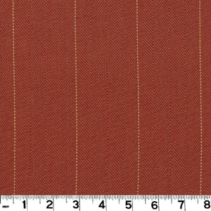 Copley Stripe CL Terra Cotta Drapery Upholstery Fabric by Roth & Tompkins