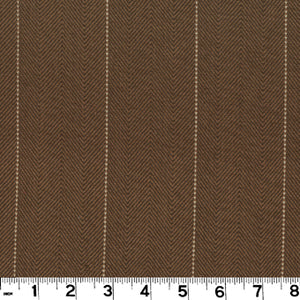 Copley Stripe CL Bark Drapery Upholstery Fabric by Roth & Tompkins