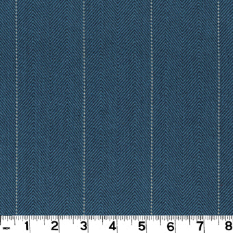 Copley Stripe CL Cobalt Drapery Upholstery Fabric by Roth & Tompkins