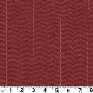 Copley Stripe CL Cardinal Drapery Upholstery Fabric by Roth & Tompkins