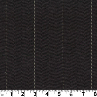 Copley Stripe CL Black Drapery Upholstery Fabric by Roth & Tompkins