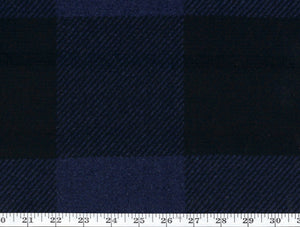 Craftsman Plaid CL Indigo Drapery Upholstery Fabric by Ralph Lauren