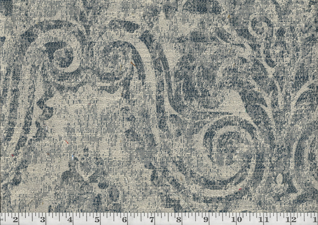 Darlene CL Navy Drapery Upholstery Fabric by Golding Fabrics