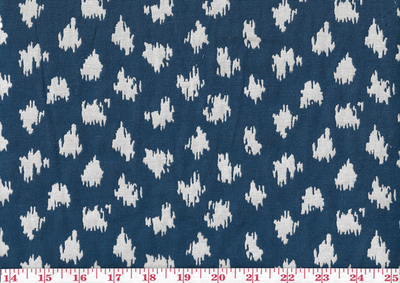 Dollops CL Navy Reversible Drapery Upholstery Fabric by Golding Fabrics
