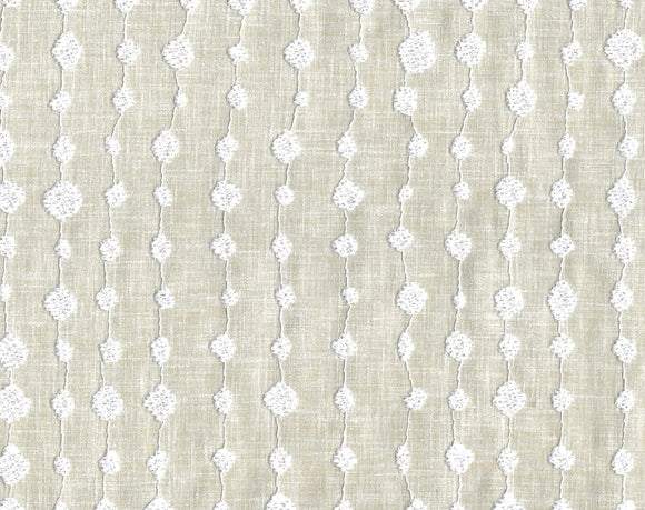 Droplet Embroidery CL Sand Drapery Upholstery Fabric by PK Lifestyles