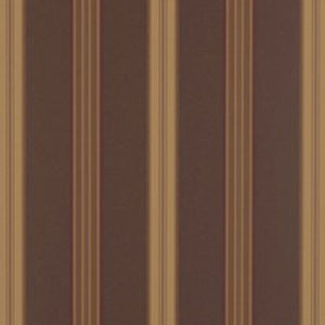 Dunston Stripe CL Mahogany Double Roll of Wallpaper by Ralph Lauren