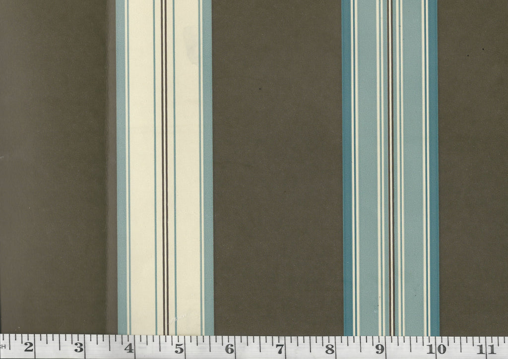 Dunston Stripe CL Cerulean Double Roll of Wallpaper by Ralph Lauren