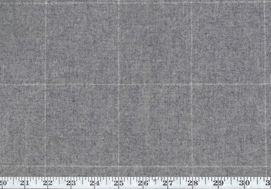 Eamon Tattersal CL Stone Grey Drapery Upholstery Fabric by Ralph Lauren