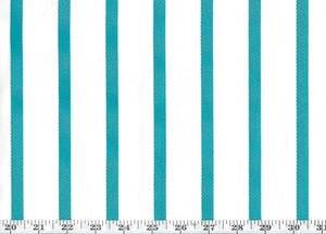 Edgewater Stripe CL Turquoise Drapery Upholstery Fabric by Ralph Lauren