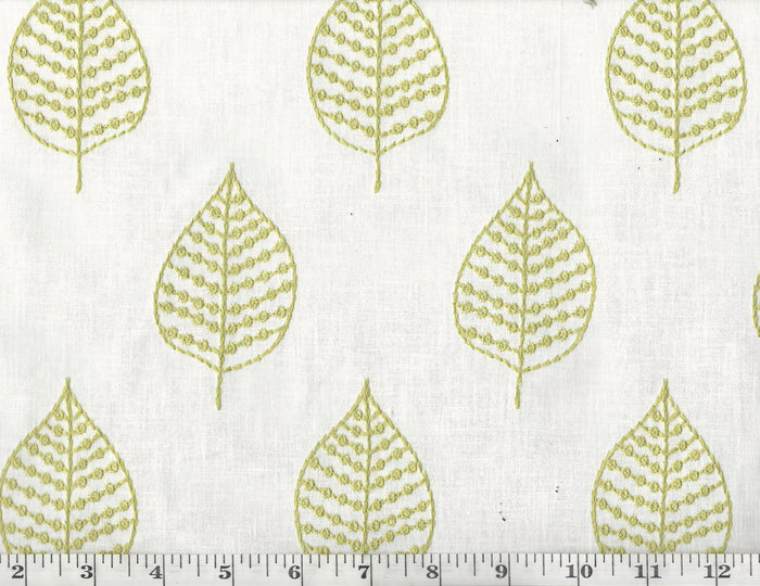 Elm Embroidery CL Leaf Drapery Upholstery Fabric by PK Lifestyles (Waverly)