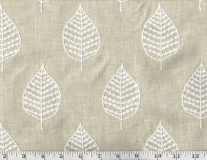 Elm Embroidery CL Parchment Drapery Upholstery Fabric by PK Lifestyles (Waverly)