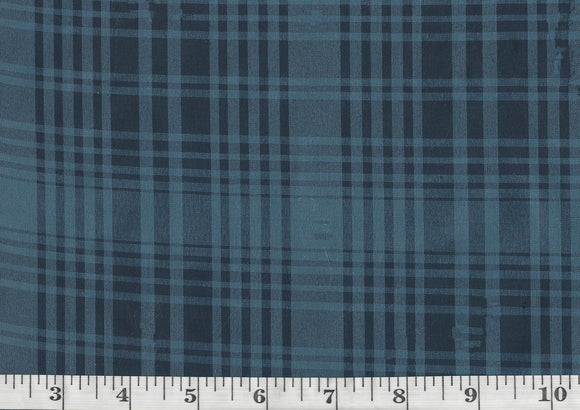 Elsie Silk Plaid CL Dress Blue Drapery Upholstery Fabric by Ralph Lauren