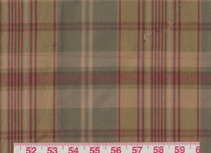 Ennis Plaid CL Olive Upholstery Fabric by Ralph Lauren
