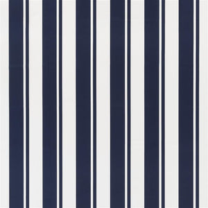 Flagler Stripe CL Resort Navy Drapery Fabric by Ralph Lauren