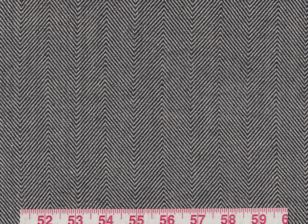 Fresno CL Black Drapery Upholstery Fabric by Diversitex