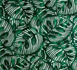 Gallant Leaf CL Emerald Drapery Upholstery Fabric by Golding Fabrics