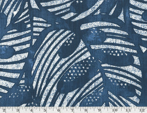 Gallant Leaf CL Lapis Drapery Upholstery Fabric by Golding Fabrics