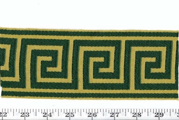 Grand Galon Athenee CL Vert Or Fabric Trim by Clarence House