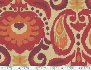 Grand Ikat CL Persimmon Drapery Upholstery Fabric by Golding Fabrics