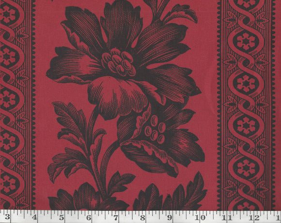 Gwinnett Toile CL Antique Red Upholstery Fabric by Ralph Lauren