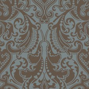 Gwynne Damask CL Peacock Double Roll of Wallpaper by Ralph Lauren